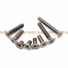 [10pcs] M6 x 15mm Phillips Cross Socket Flat Head Titanium Screw Screws