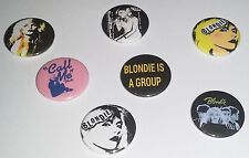 7 Blondie pin button badges 25mm punk rock Debbie Harry Atomic Parallel Lines