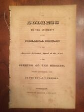 RARE 1832 Associate Reformed Synod West Theological Seminary Address, Pittsburgh