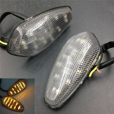 Turn signal lights Fit 2003 2004 2005 2006 YZF R6 YZFR6 Clear LED Flush mount
