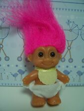 "STANDING BABY WITH BIB  - 2"" Russ Troll Doll - NEW IN ORIGINAL WRAPPER"