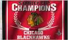 3' x 5' Chicago Blackhawks 2015 Licenced Stanley Cup NHL Flag - Free Shipping