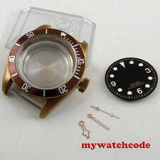 41mm sapphire glass coffee Watch Case + dial + hand fit ETA 2824 2836 MOVEMENT