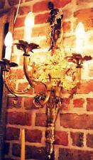 Putte personaggio bronzo oro candele in Ottone Lampada parete in Applike antico Empire?