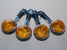 4PCS Front / Rear Yamaha Turn Signals Amber Lens Indicator Light Winker Blinker
