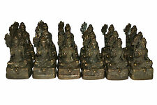 A wholesale lot of 18 Small brass amulets statues of Lord SHIVA Trident Nepal