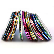 Hot 30 Color Rolls Striping Tape Line Nail Art Womens Decoration Sticker Brand