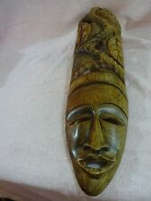 VERY UNIQUE HAND CARVED GHANAIAN  WITH FULL HEADRESS MASK