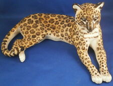 Nice Nymphenburg Porcelain Leopard Figure Figurine Porzellan Figur Big Cat Katze