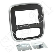 OPEL Vivaro ab2014 Doppel 2-DIN Radioblende Radioblende Halterung silber/schwarz
