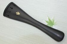 New high quality 4/4 Ebony Cello Tailpiece inlaid copper flower cello parts