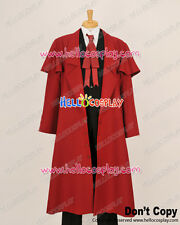 Hellsing Herushingu Cosplay Alucard Red Trench Coat Costume H008
