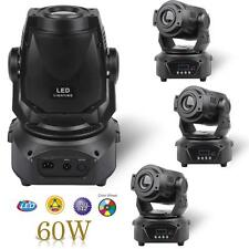 4x 60W LED Moving Head DJ Stage Spot Light DMX Disco Lighting Party + Fixed gobo