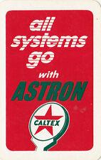 Caltex ASTRON Australia motor car advertising playing card, swap card