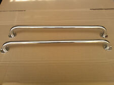 Pair of stainless steel 600mm marine grade 316 boat grab rails/handles 22mm