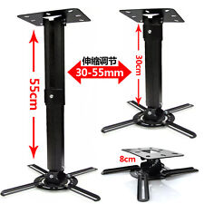 Telescope extendable projector mount Bracket 15 degree Tilt 360° Swivel 50lbs