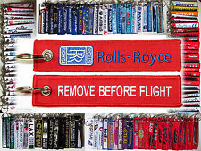 Rolls Royce Aviation Jet Engines tag keychain keyring REMOVE BEFORE FLIGHT