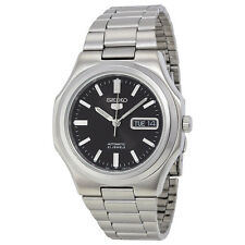 Seiko 5 SNKK47 Automatic Day-Date Black Dial Stainless Steel Mens Watch SNKK47K1
