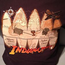 Vintage LucasFilm Indiana Jones Harrison Ford Holy Grail Idol Lost Ark T Shirt L