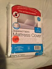 TWIN SIZE BEDROOM MATTRESS COVER ZIPPERED WATERPROOF ALLERGIC/BED BUG PROTECTED