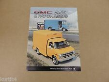 1984 GMC Van G3500 F/C Chassis Magnavan Value Van sales brochure dealer catalog