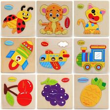Baby Educational Kids Children Intellectual Developmental Wooden Toy Puzzle Gift