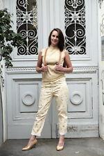 RIGANY Damen Bluse Top Gr. S Gold Lurex 90er True VINTAGE Seidenmischung silky