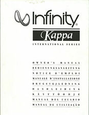 INFINITY KAPPA/60 70 80 90 100 Center B REAR/Manual BDA manuale d'uso