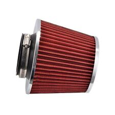 Red 1x 75mm Universal Fit Cold Air Intake Round Cone Filter KN Type
