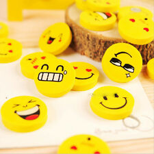 Hot 4X Cute Smile Rubber Eraser Kids Party Loot Stocking Bag Fillers Stationery