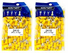 (200 PACK) 12-10 GAUGE YELLOW SPADE ELECTRICAL TERMINALS #10 - SHIPS FREE TODAY!