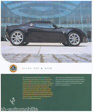 Lotus Elise 111 111s folleto 2002 gb brochure auto turismos auto deportivo folleto
