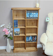 Oak DVD Storage Tower Unit Holds 190 DVD's or 260 CD'S