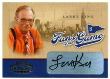 LARRY KING 04 PLAYOFF HONORS FANS OF THE GAME AUTO AUTOGRAPH CARD!