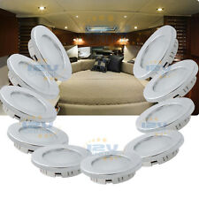 """10x 12V 2.76"""" LED Recessed Ceiling Down Lights RV Interior Kitchen Lamps Warm W"""