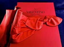 "NEW VALENTINO GARAVANI LADIES  RED ""ORO COLLECTION"" DRAPE BELT WITH BOW - TAGS"
