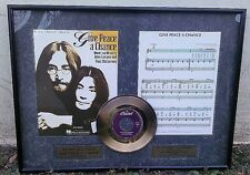 """GOLD PLATED RECORD 24K """"Give Peace a Chance""""  ©1997 YOKO ONO LENNON"""