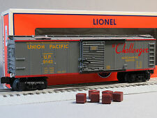 LIONEL UNION PACIFIC OPERATING MERCHANDISE CAR operating o gauge train 6-81725