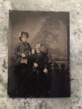 Antique Tintype Photo Of Man And Women 1800's