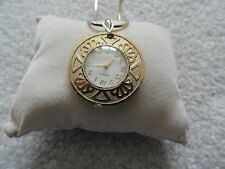 Vintage Caravelle Wind Up Necklace Pendant Watch