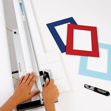 """New Beveled Mat Cutter Poster Board Picture Framing Cutting Tool Kit 32"""" Set USA"""