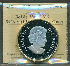 2012 Canada Silver Gold Dollar War of 1812 ICCS PF-68 UHC