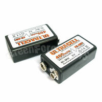 2 x 9V 9.0 V Volt 400mAh Ni-MH 6F22 PP3 17R8H Rechargeable Battery Ultracell