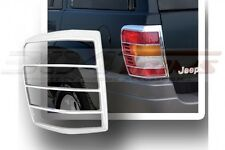FITS JEEP GRAND CHEROKEE 1999 - 2004 FACTORY-FIT CHROME TAIL LIGHT TRIM BEZELS
