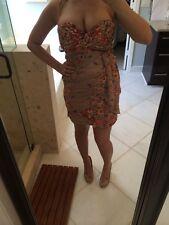 Gianni Binni GB Medium Marilyn Monroe Wiggle Dress Tan Floral Sexy dress