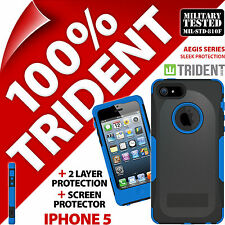 NUOVO Trident Aegis Protettiva Heavy Duty Custodia Rigida Resistente per Apple iPhone 5 Blu