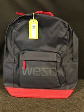 WeSC Chaz Backpack Navy Blue and Red