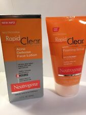 Neutrogena Rapid Clear Cleanse & Treat Pack Acne Defense face lotion 2 pk