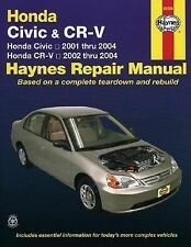 Honda Civic 2001-2004 & CR-V 2002-2004 Haynes Repair Manual