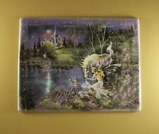 Dream Castles IMAGINE Plate #2 Mimi Jobe Fairies Fairy Unicorn COA Castle Lovely